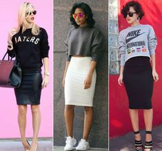 10 Bleistiftrock Casual Outfits Mode als Lifestyle Black Pencil Skirt Outfit, Pencil Skirt Casual, Casual Skirt Outfits, High Waisted Pencil Skirt, Outfits With Pencil Skirts, Long Pencil Skirt, Pencil Dresses, Casual Skirts, Office Outfits