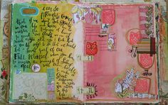 Art journal inspiration: Pages by Pam Garrison.