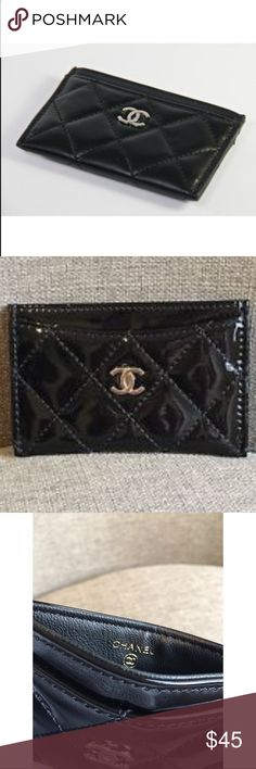 Authentic Chanel cards holder new Authentic Chanel cards holder glossy black new VIP gift CHANEL Makeup