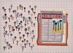 """""""Panel (keys)"""" - 50 x 70 cm - 2012"""