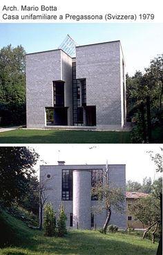 Mario botta. House in Pregassona Switzerland. 1979-82