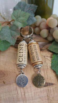 This item is unavailable Wine Cork Jewelry, Wine Cork Art, Bottle Jewelry, Wine Corks, Wine Craft, Wine Cork Crafts, Wine Bottle Crafts, Recuerdos Primera Comunion Ideas, Cadeau Parents
