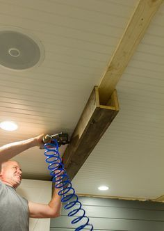 How to build faux beams.