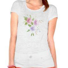Pansies watercolor tshirt