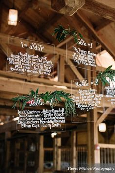 Ohhhh what about doing something fun like this for the bar  menu? (Each type if wine, beer, or specialty cocktail written on plexiglass hanging behind the bar)