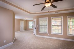 The Master suite of the Albany floor plan by Ball Homes.