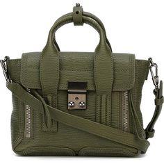 3.1 PHILLIP LIM mini 'Pashli' satchel (€640) ❤ liked on Polyvore featuring bags, handbags, leather handbags, black handbags, black satchel, black satchel handbag and satchel handbags