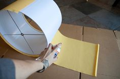 Fabric Is Bliss: Recover A Lamp Shade