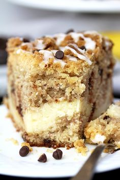 This Cheesecake Banana Bread Crumb Cake is a rich banana cake filled with cheesecake and crumb topping on the top. Start your day with this dessert and a cup of coffee or tea 🙂 Pudding Desserts, Dessert Recipes, Cheesecake Recipes, Picnic Recipes, Baking Desserts, Cake Baking, Health Desserts, Cupcake Recipes, Banana Nut Bread