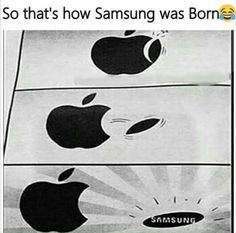 apple and samsung funny memes in to make laugh. Visit once, u can see more funny joke pics here Funny Minion Memes, Very Funny Memes, Funny Memes Images, Funny School Jokes, Best Funny Jokes, Funny Qoutes, Stupid Memes, Funny Relatable Memes, Funny Facts