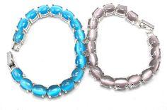 Avon 2004 Turquoise Lavender Cat's Eye Birthstone Bracelets February December  | eBay