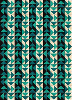 Interesting pattern that would translate nicely to a quilt.
