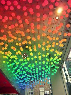 Rainbow of sphere lights