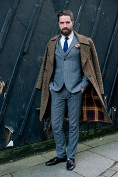 Jack Guiness tijdens Londen men's fashion week.