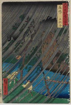 Utagawa Hiroshige Title:Mimasaka Province: Yamabushi Valley (Mimasaka, Yamabushidani), from the series Famous Places in the Sixty-odd Provinces [of Japan] ([Dai Nihon] Rokujûyoshû meisho zue) Date:1853