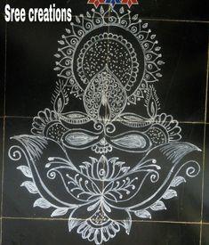 Diwali Designs, Indian Rangoli Designs, Beautiful Rangoli Designs, Kolam Designs, Lotus Rangoli, Kolam Rangoli, Simple Rangoli, Mehendhi Designs, Fabric Painting
