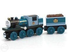 75 lei: Locomotiva Ferdinand cu vagon nou-nouta, produs Fisher Price pentru sinele de lemn (2,5 cm)  putem aduce la comanda orice piesa, nu doar cele care sunt in anunturi, multe altele  comenzile se pr... Fisher Price, Thomas Toys, Orice, Wooden Toys, Wooden Toy Plans, Wood Toys, Woodworking Toys