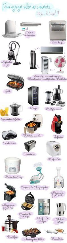 """Lista de eletrodomésticos para uma casa: fase """"ostentação""""!"""
