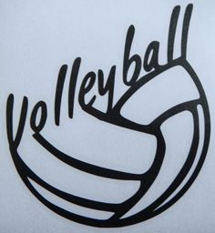 A fantastic vinyl decal letting everyone know how much you love Volleyball! Perfect for Windows, Glass, School Binders...etc.- basically any smooth