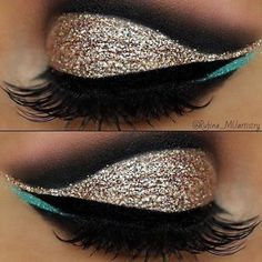 Want to perfect those eyeliner? This hacks will surely be of great help! 12 EYELINER HACKS for FLAWLESS Winged Eyeliner Every Time! Cute Makeup, Prom Makeup, Pretty Makeup, Wedding Makeup, Hair Makeup, Simple Makeup, Gold Makeup, Turquoise Eye Makeup, Mint Makeup