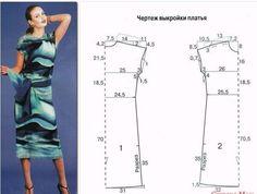 Выкройки женских платьев больших размеров смотрите картинки
