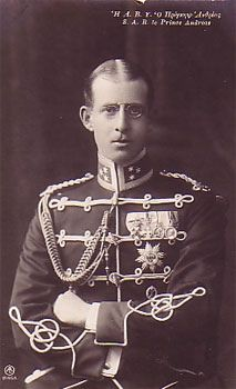 Prince Andrew of Greece and Denmark, father of Prince Philip Duke of Edinburgh