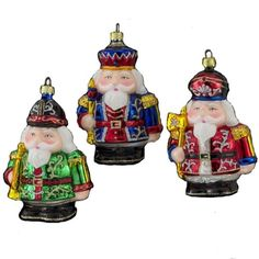 Noble Gems  Mini Nutcracker Glass Soldier Ornaments