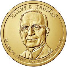 2015-S  GEM  Proof Deep Cameo  US Presidential One Dollar Harry S Truman