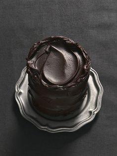 The darker, the better. Dark #chocolate cake