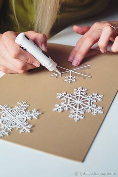how to make snowflakes of packaging materials christmas decorations rustic decor 30 Creative Christmas DIY Ideas Anyone Can Do Diy Christmas Snowflakes, Clay Christmas Decorations, How To Make Snowflakes, Snowflake Craft, Noel Christmas, Christmas Crafts For Kids, Holiday Crafts, Christmas Gifts, Christmas Hanukkah