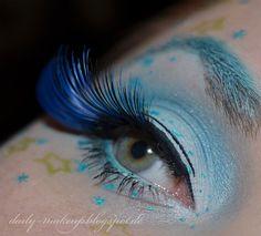 Sailor Neptun inspired make up by http://daily-makeup.blogspot.de/2013/04/schminkaktion-sailor-neptun.html