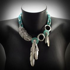 Dropbox - Turquoise and sterling feathers. Native American Jewelry, Turquoise Necklace, Feathers, Fashion, Moda, Fashion Styles, Fashion Illustrations, Feather