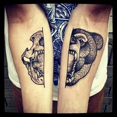 120 Fabulous Bear Tattoo Designs And Meanings awesome  Check more at http://fabulousdesign.net/bear-tattoos-meanings/