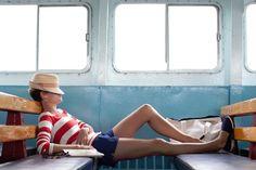 stripes, boat, nautical