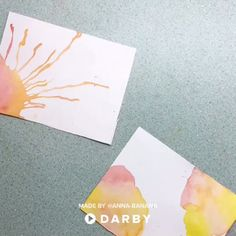 How to Make Your Own DIY Watercolor Cards for Your Next Event #darbysmart #diy #watercolor #ideasforkids