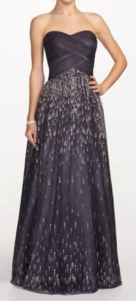 Strapless Prom Ballgown with Beaded Skirt. David's Bridal. $199