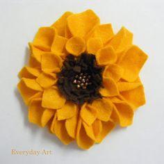 Felt Flowers (Sunflowers) by Everyday Art