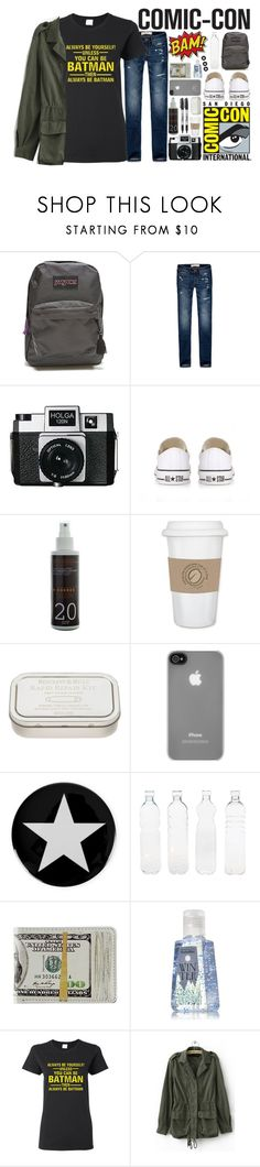 """""""off to comic-con"""" by amd2898 ❤ liked on Polyvore featuring JanSport, Abercrombie & Fitch, Holga, Converse, Korres, Sharpie, Incase, Givenchy, Seletti and comicconfashion"""