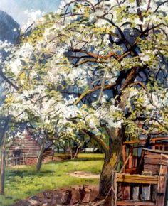 Hermann Friederich 'Herman' Bieling (Rotterdam 1887-1964 Rhoon) Bloesemboom, 1950
