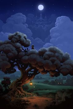 Illustration~Magical Night