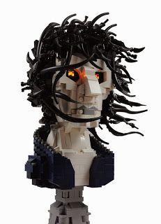 LEGO bust of Neil Gaiman's Morpheus