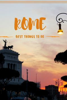 Things to do in Rome | Rome Italy - Rome as a historical city is brimming with attractions and monuments, these are some of the must visit sights on a visit to Rome