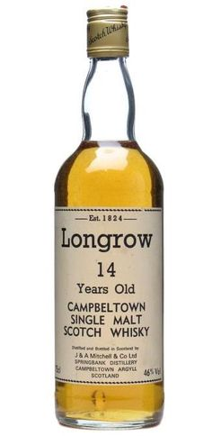 Longrow 14 year old; bot.1980s scotch single malt whisky
