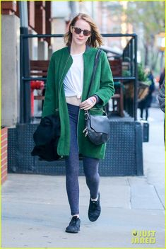 Emma Stone Draws French Flag on Her Hand to Support Paris: Photo #3508715. Emma Stone steps out for a stroll around town on Saturday afternoon (November 14) in New York City.    The 27-year-old actress showed her support for the people…