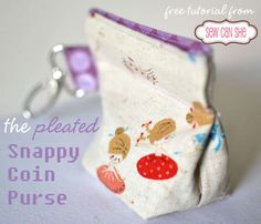 Pleated Snappy Coin Pouches! — Sew Can She | Free Daily Sewing Tutorials