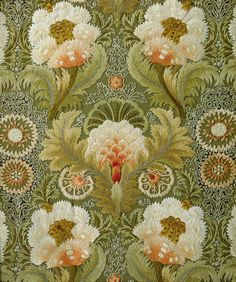 design-is-fine:  Silk Embroidery with Flowers and Leaves, attributed to Leek Embroidery Society, 1885 - 1895. Via Rijksmuseum