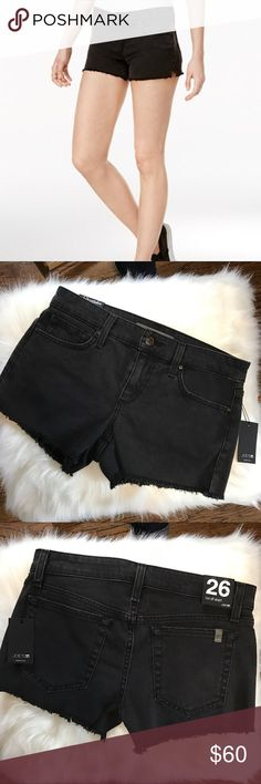 NWT Joe's Jeans black cutoff denim shorts Black jean cutoff shorts with slits on the side. Nice stretch to material. Joe's Jeans Shorts