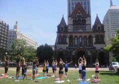Yoga on the Square at Boston Massachusetts United States