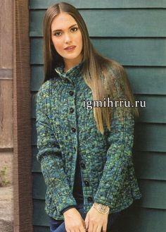 Теплый зелено-бирюзовый жакет с узором из кос. Вязание спицами My Favorite Things, Men Sweater, Stitch, Knitting, Patterns, Women, Fashion, Princess Sofia Party, Princess Sofia
