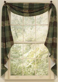 Pine Ridge Lined Fishtail Swag by Primitive Home Decors. $46.95. 100% Cotton Fabric. In rich browns and evergreen, the Pine Ridge Fishtail Swag is perfect for the cabin in the woods. It frames the window and adds a bit of color but allows the outside to come in. Pine boughs are embroidered throughout this cabin decor curtain collection an